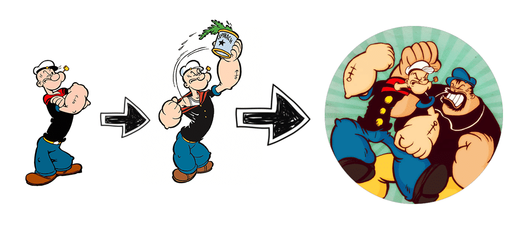 features vs benefits popeye