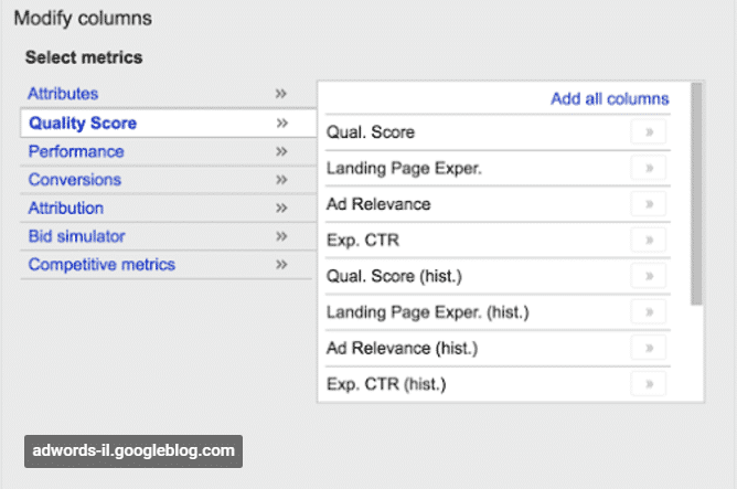 New AdWords Quality Score Columns in the Works? | Disruptive Advertising