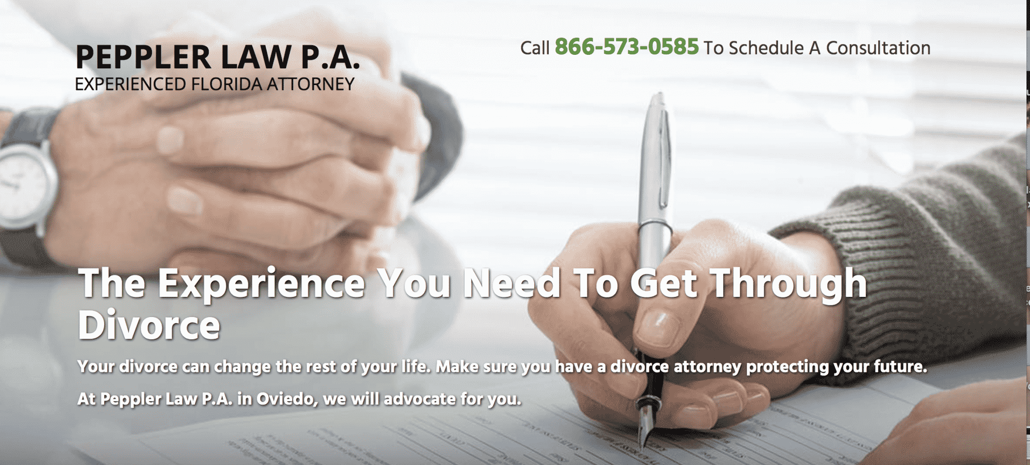 lawyer landing pages