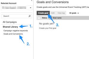 Bing Ads Universal Event Tracking Setup
