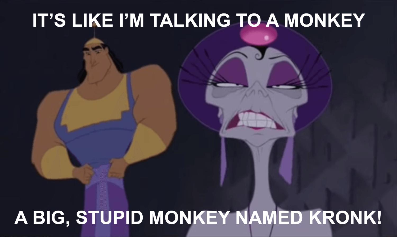 It's Like I'm Talking to a Monkey
