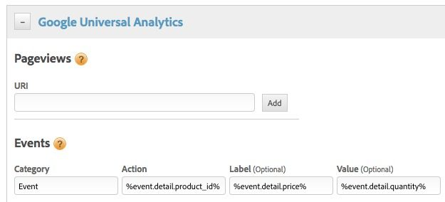 Dynamic data elements for custom events