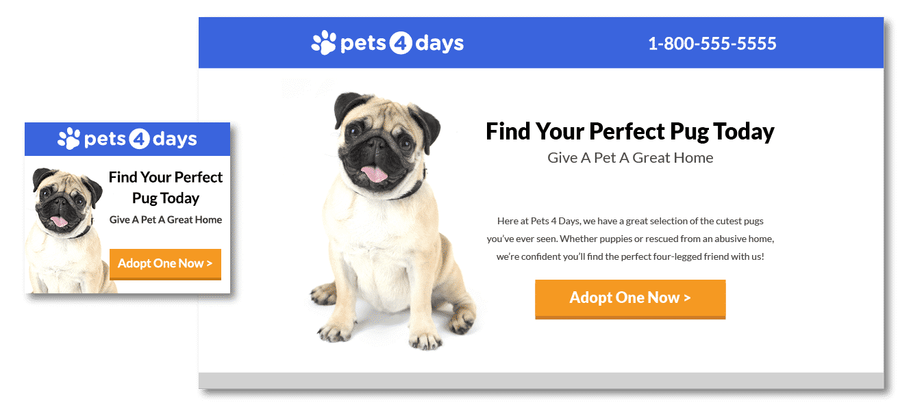 Pets 4 Days - Call to Action - Dog - Disruptive Advertising