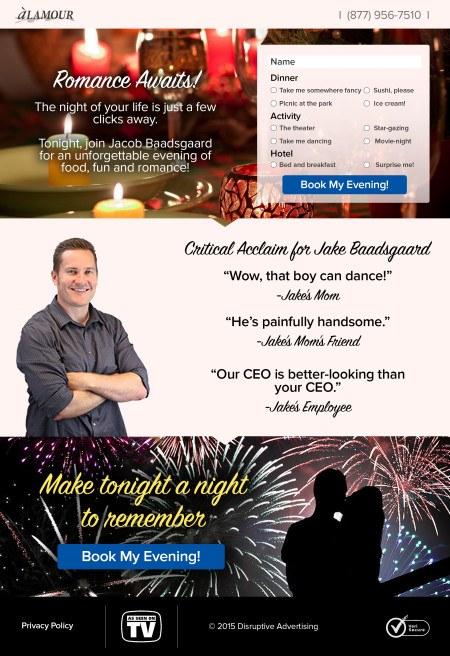 Romantic Landing Page