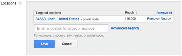 Targeting Locations within Google Adwords - Disruptive Advertising