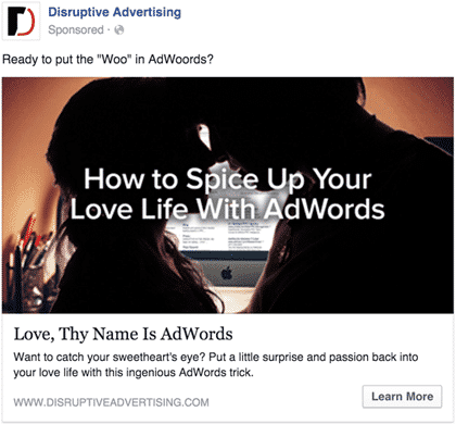 AdWords of Love | Disruptive Advertising
