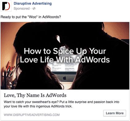 AdWords of Love | Disruptive Advertising