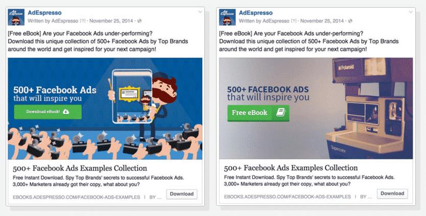 Facebook Advertising   AdEspresso example