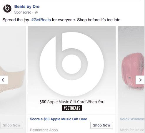 Facebook Advertising Example   Disruptive Advertising