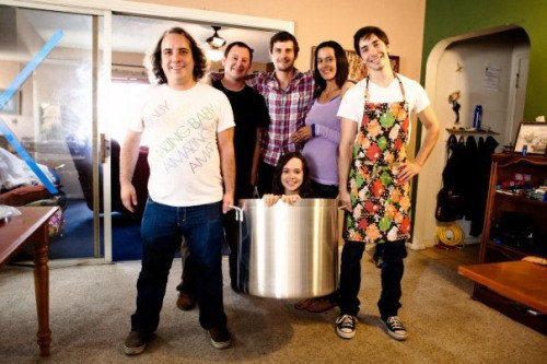 Yes, this is Ellen Page in a soup pot. Short girls – represent.