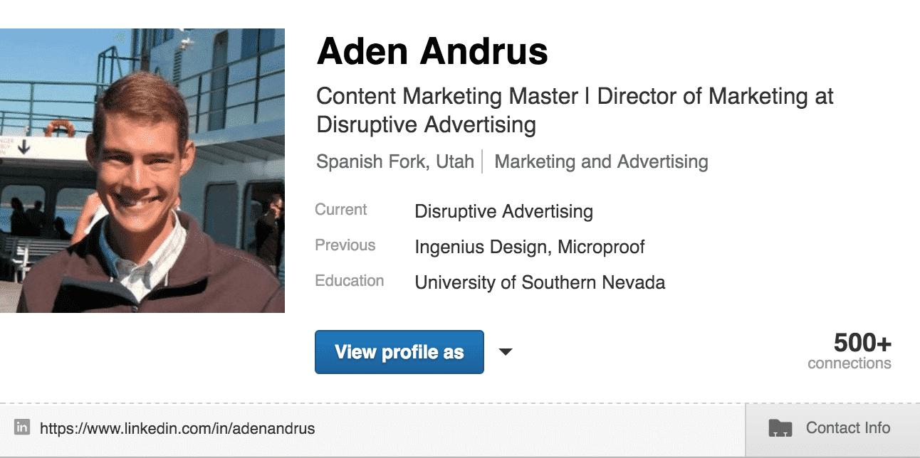 LinkedIn Title Content   Disruptive Advertising