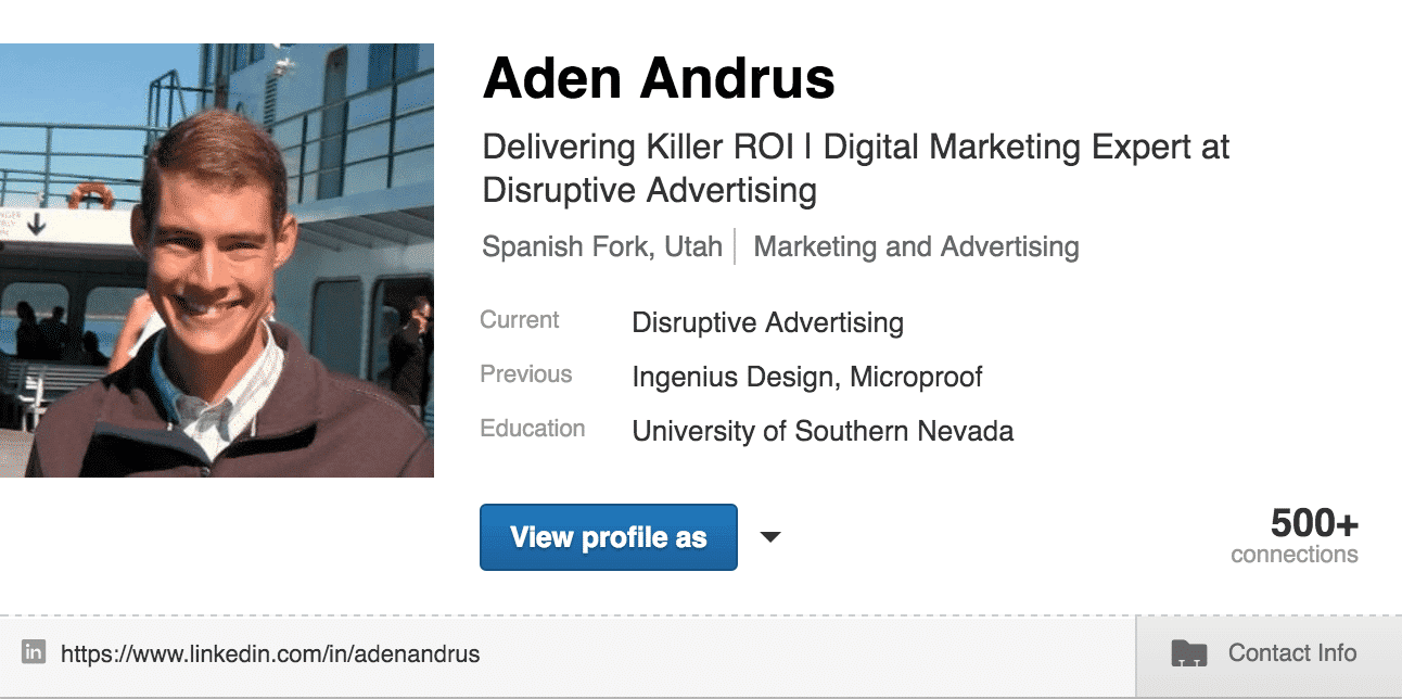 LinkedIn Title   Disruptive Advertising