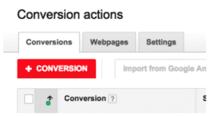 "Red ""+ conversion"" Button 