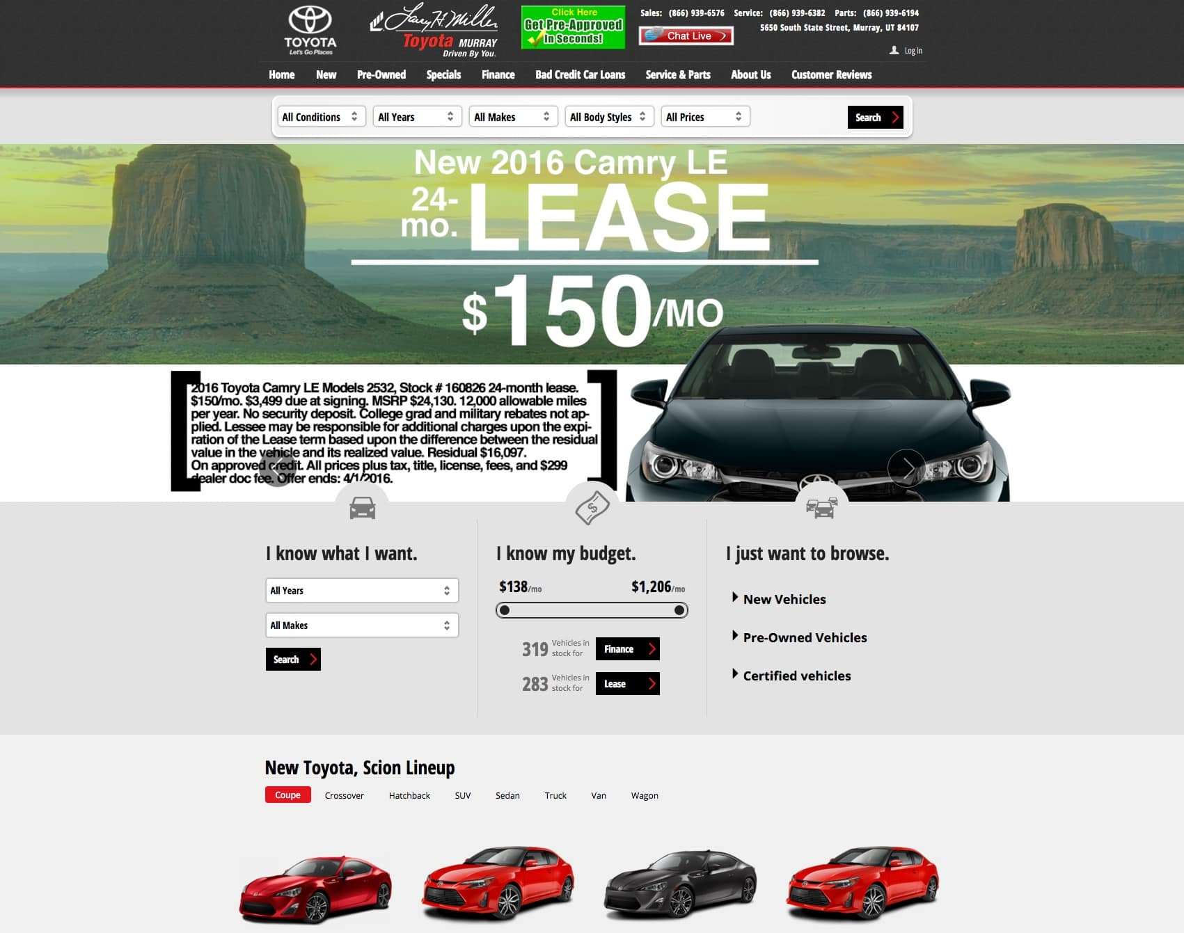 Larry Miller Toyota >> How the Automotive Industry Uses Landing Pages