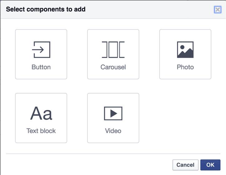 Facebook Canvas Components   Disruptive Advertising
