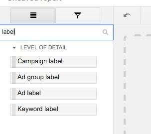 Filtering for Labels in Your AdWords Report   Disruptive Advertising