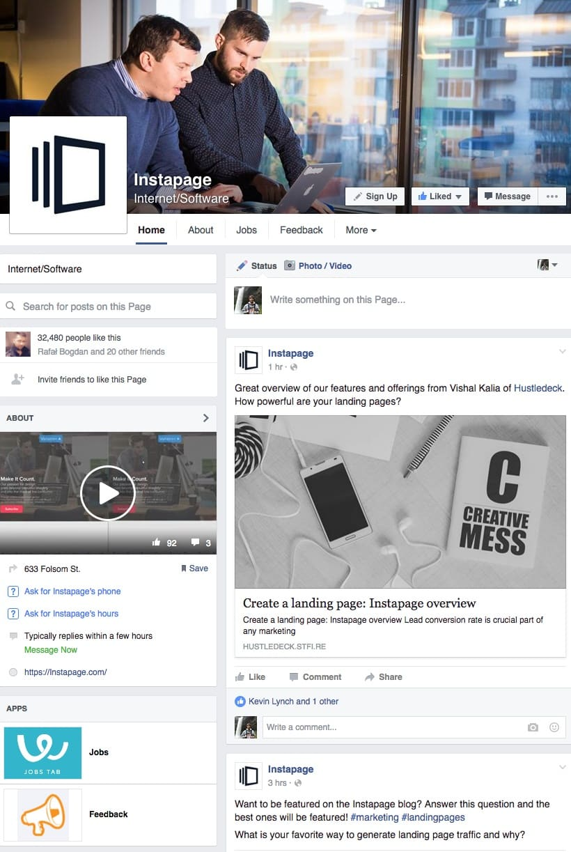 Instapage's Facebook Feed | Disruptive Advertising