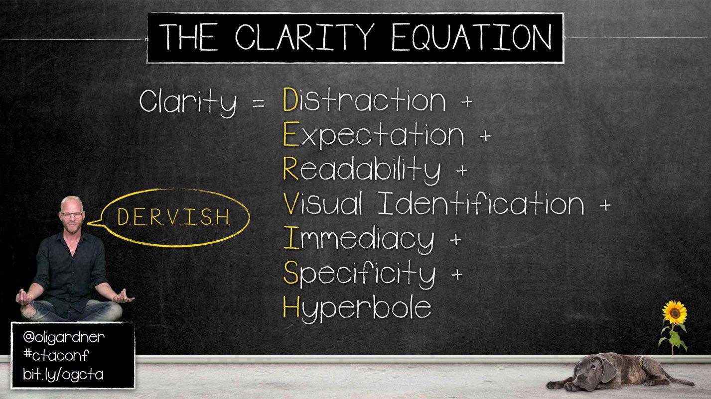 Oli Gardner's Clarity Equation | Disruptive Advertising