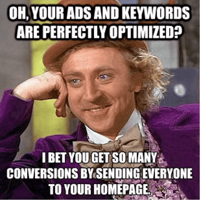 Sending Everyone to Your Homepage?   Disruptive Advertising