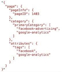 digitalData data layer