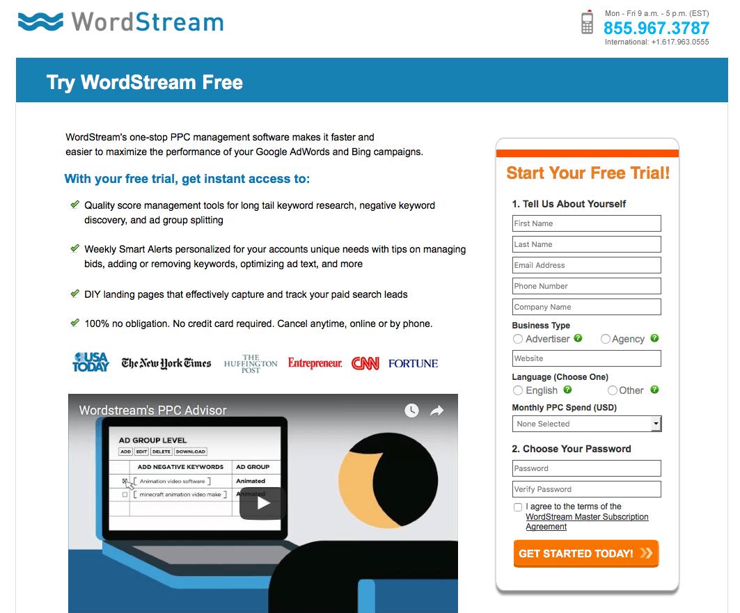 Wordstream's Landing Page Video | Disruptive Advertising