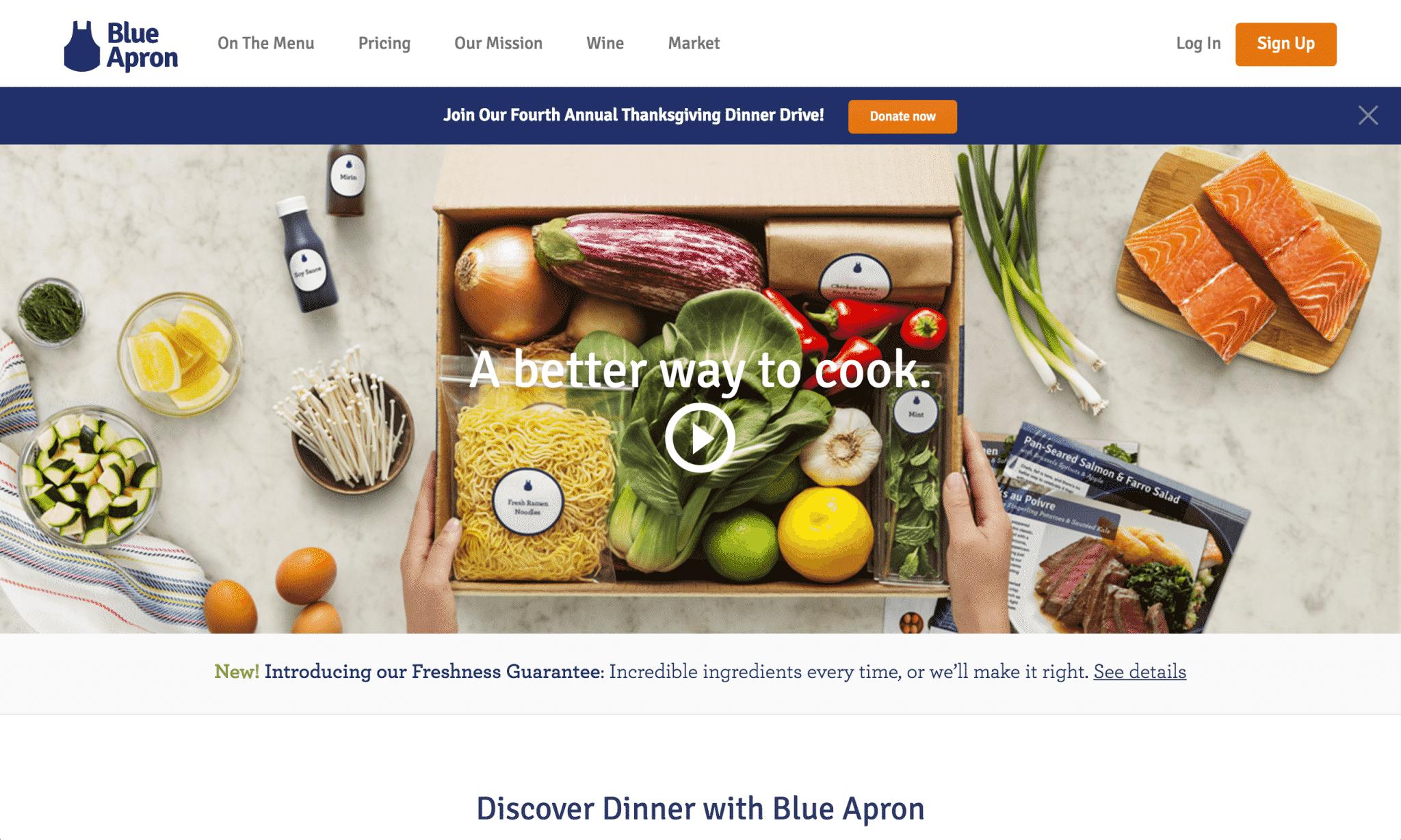 Blue Apron Landing Page Video | Disruptive Advertising