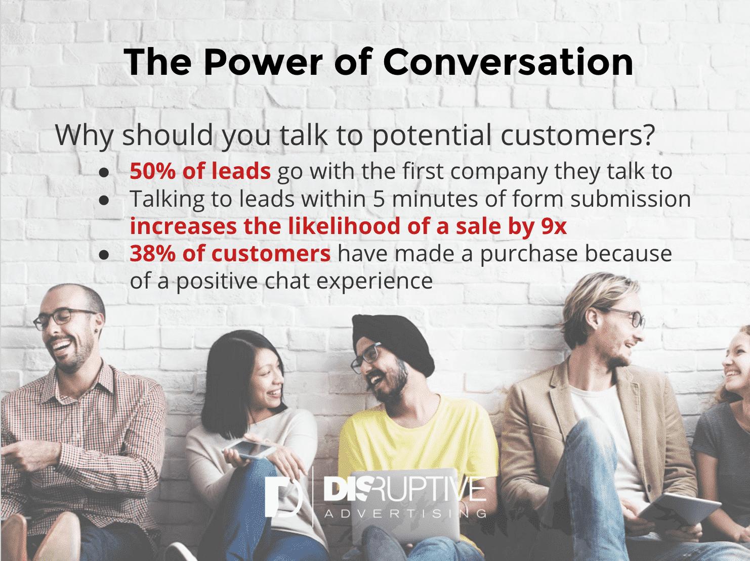 Live Chat Rules – Conversation Statistics | Disruptive Advertising