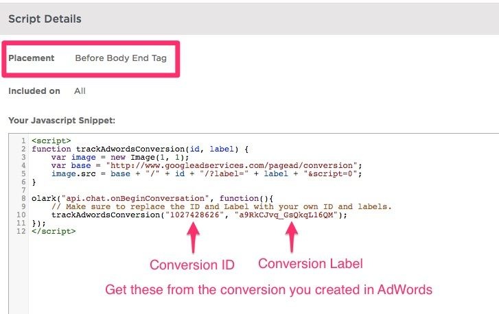 Olark + Unbounce + AdWords: Tracking Chat Conversions   Disruptive Advertising