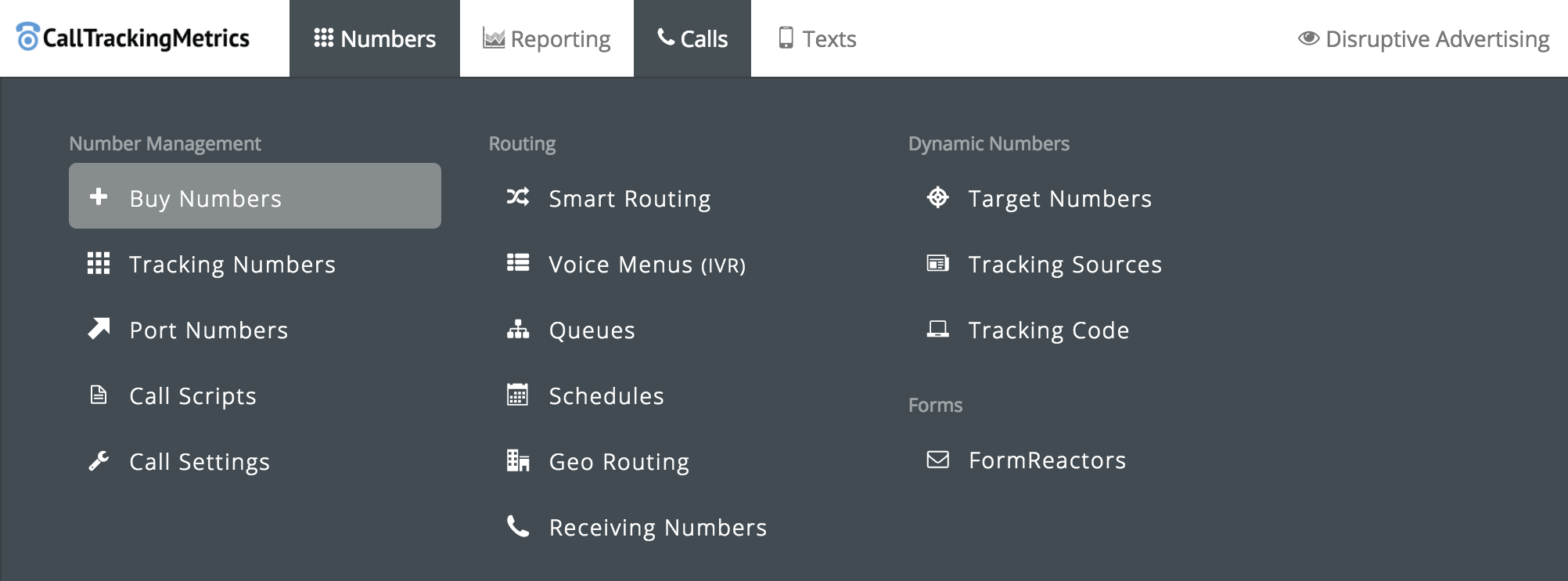 Setting Up CallTrackingMetrics: Buying Your Numbers | Disruptive Advertising