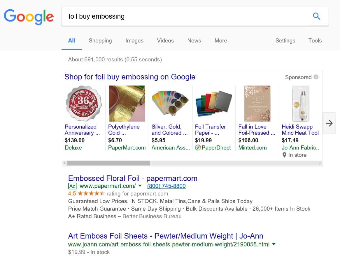 New Exact Match Definition: Word Reordering   Disruptive Advertising
