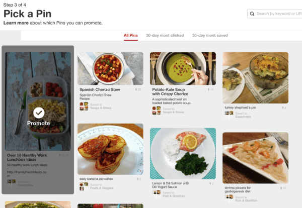 Pinterest's promoted pins
