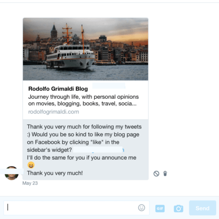 twitter automated messages mistakes