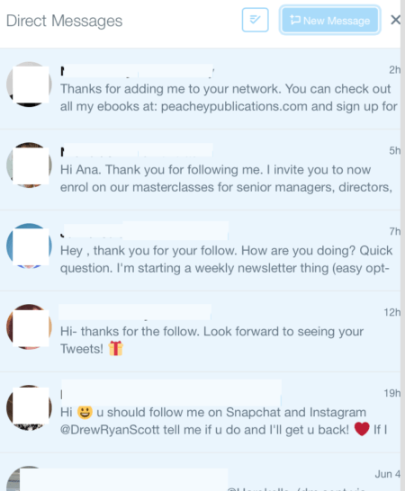 automated Twitter messages