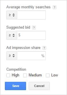 Using Keyword Filters in the Google Keyword Planner | Disruptive Advertising