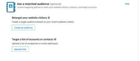 LinkedIn Ads targeting