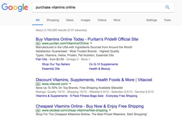 exact match keywords Google Adwords