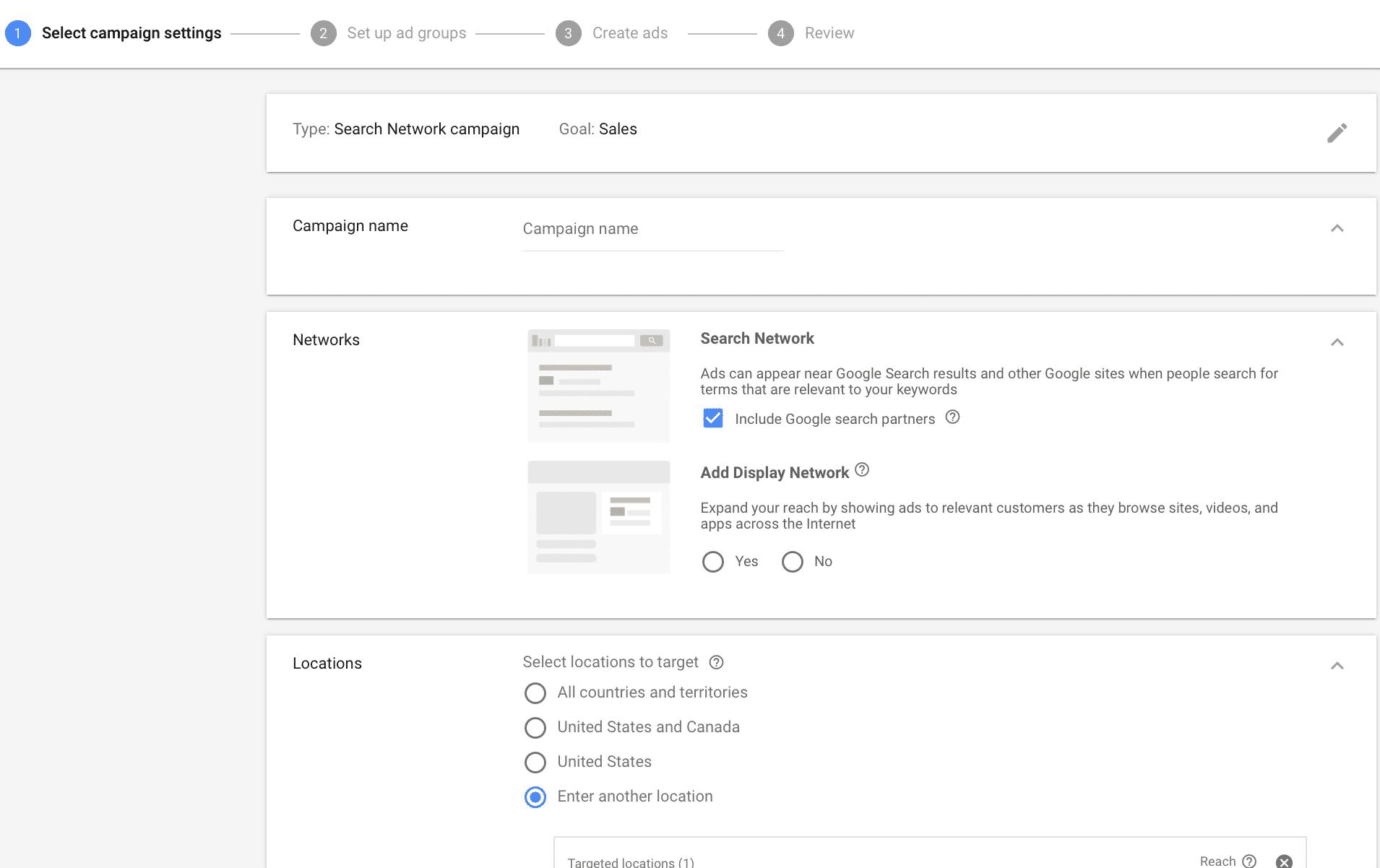 Google Adwords location targeting