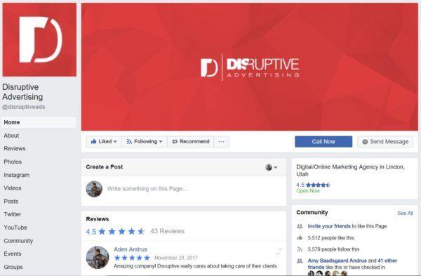 Facebook Marketing: Facebook Page   Disruptive Advertising