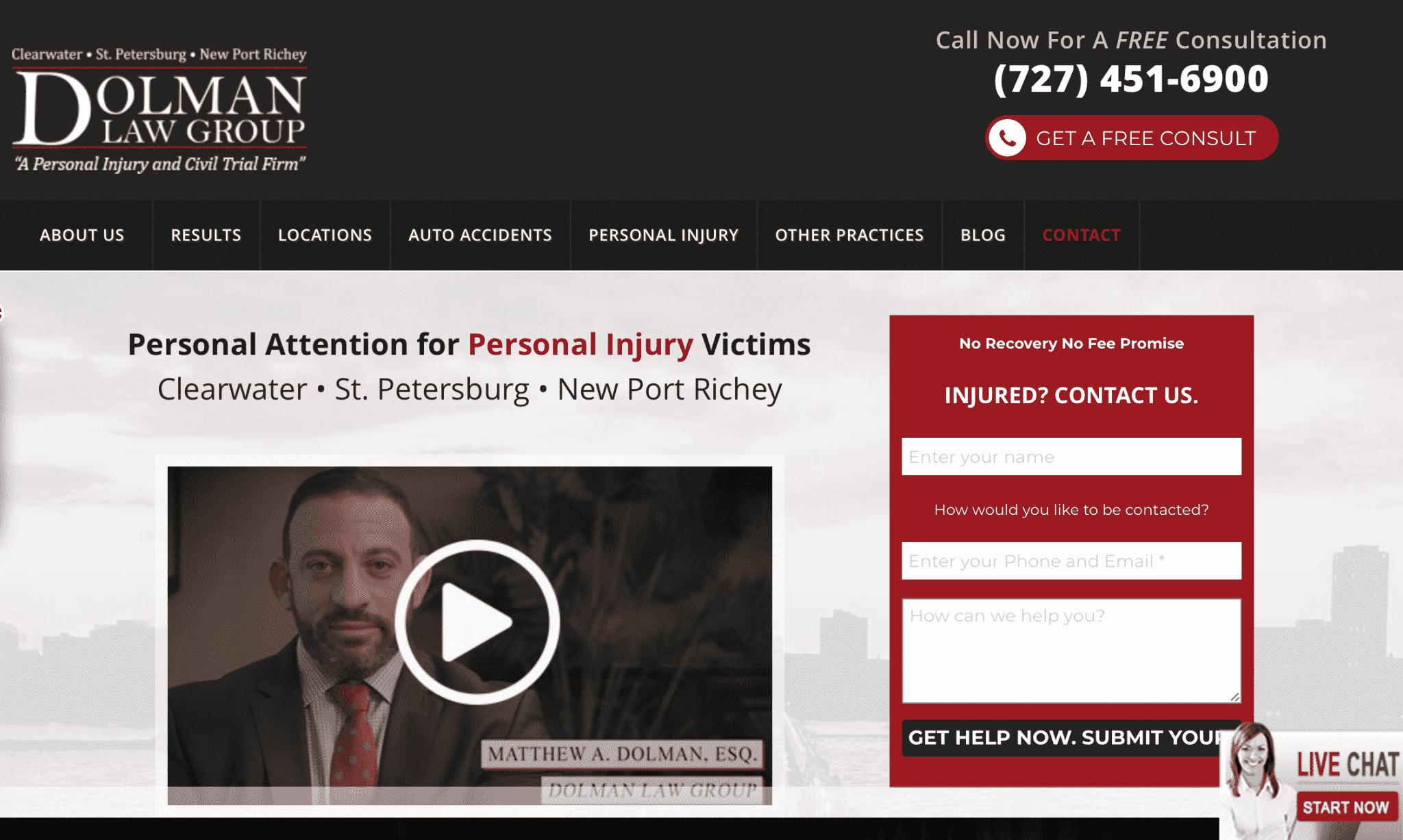 law firm marketing websites