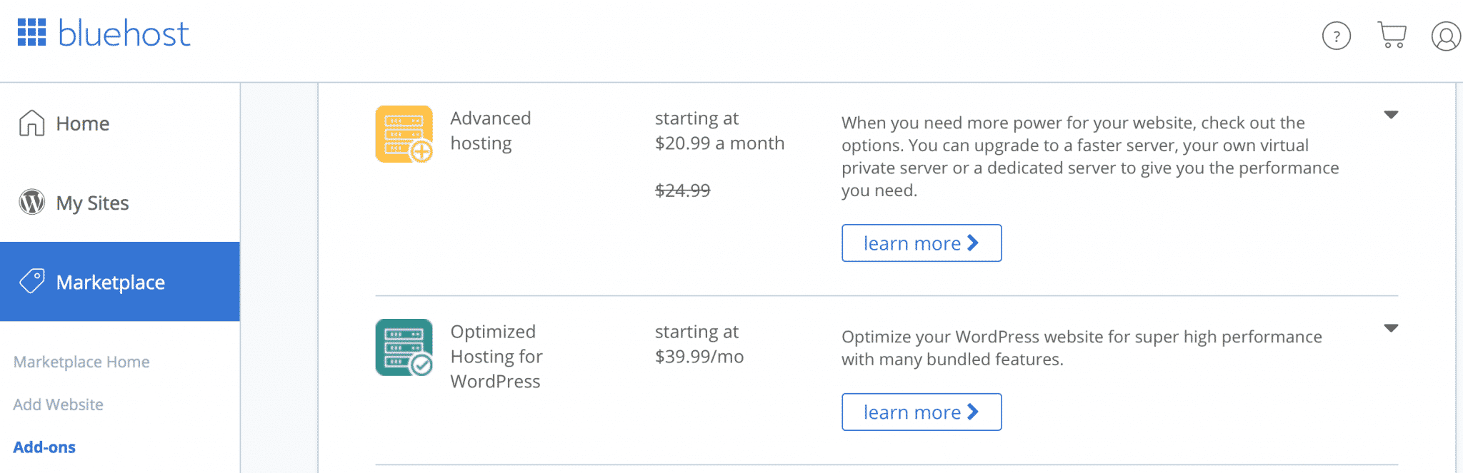 ecommerce hosting plan