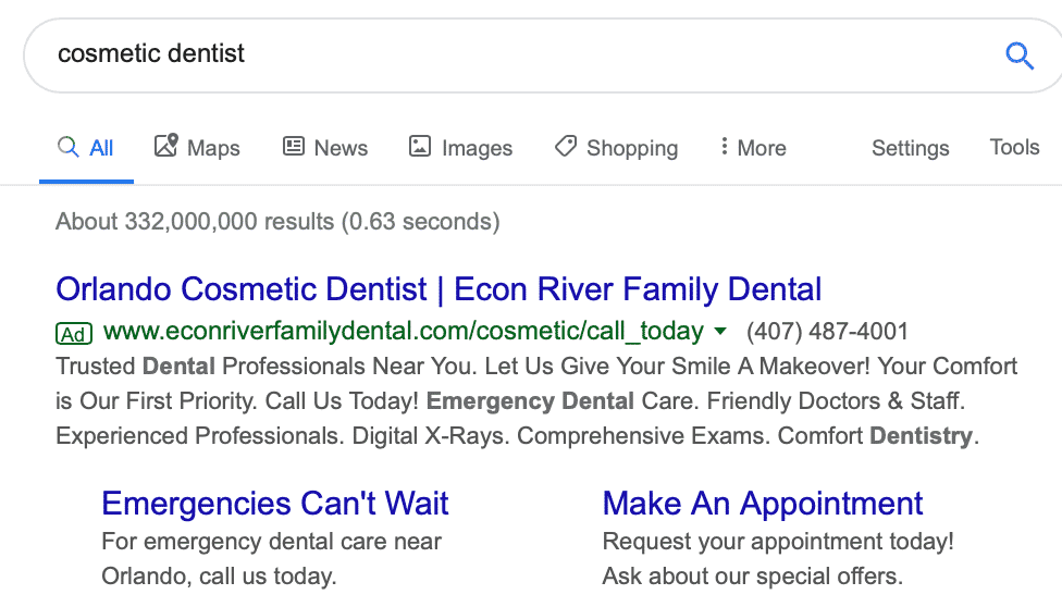 PPC dental campaigns