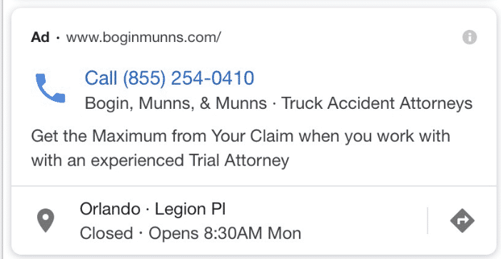 call-only ads on Google