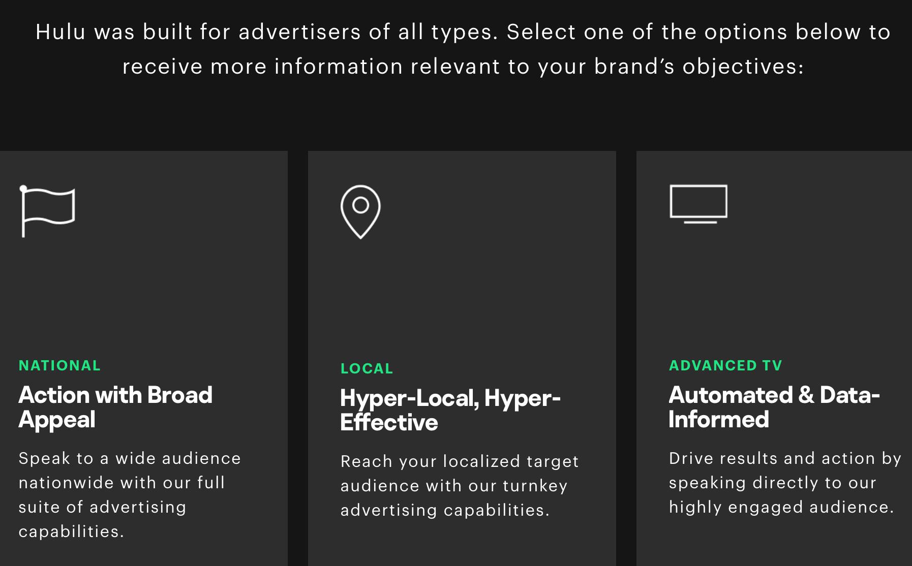 Hulu's self-service ad platform